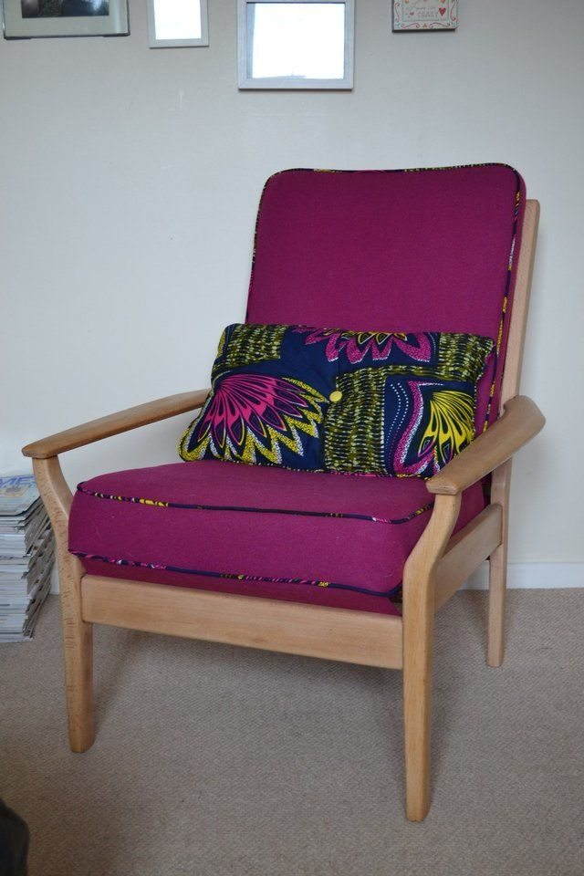 Vintage Retro Ercol Purple Funky Armchair Mid Century for ...