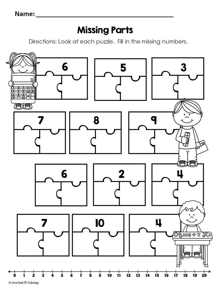 Parts Of A Whole Kindergarten Worksheets on De Posing Numbers Kindergarten Worksheets