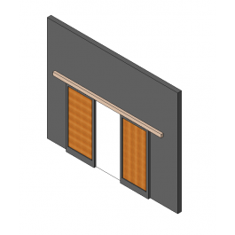Double Sliding Door Revit Model Double Sliding Doors Sliding Doors Doors
