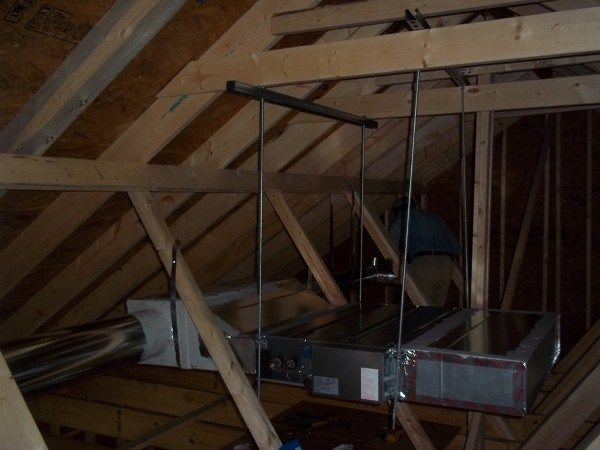 Mitsubishi Ducted Mini Split Fan Coil Installed In Crawlspace Sez Kd15na4 House System Mini Splits