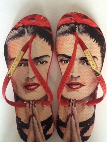 b9ebb8fa6 La Louca: Compre chinelos personalizados e customizados \ Frida Lalouca  slim 4 Frida Kahlo Costume