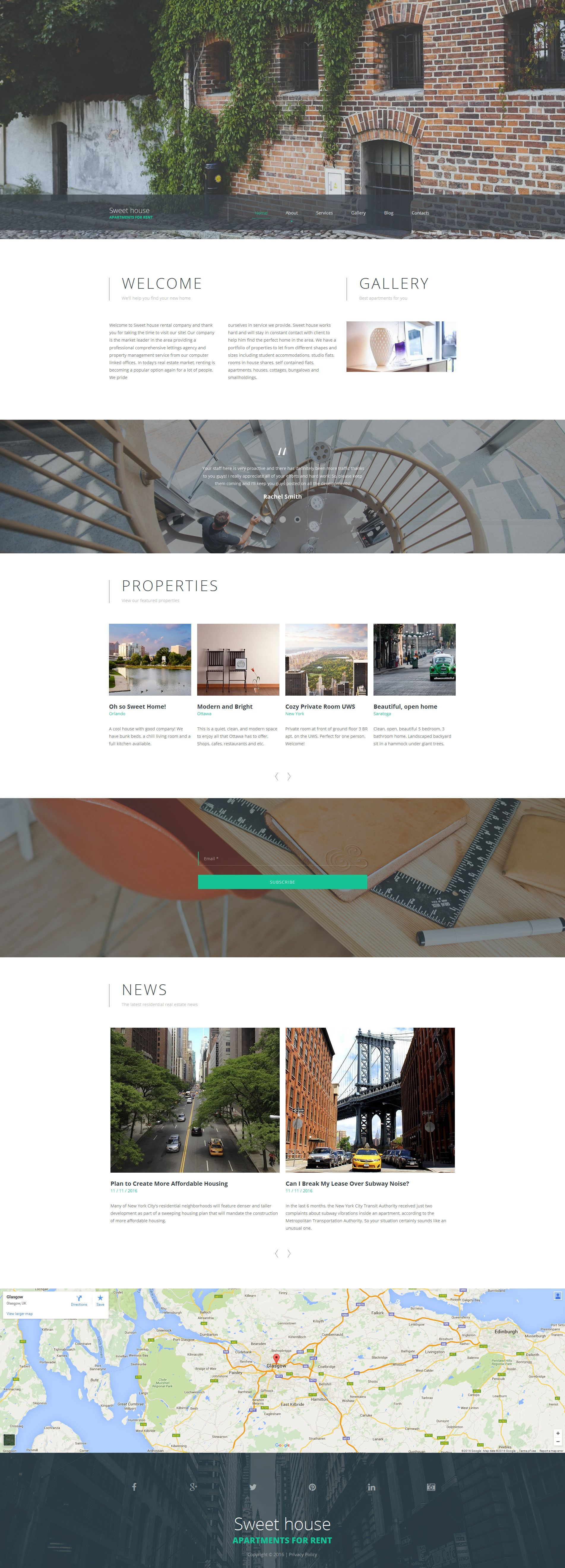 Real Estate Responsive Moto CMS 3 Template | Real estate, Branding ...