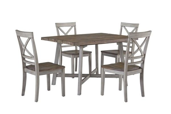 Standard Furniture Fairhaven Grey 5pc Dining Room Set With Images