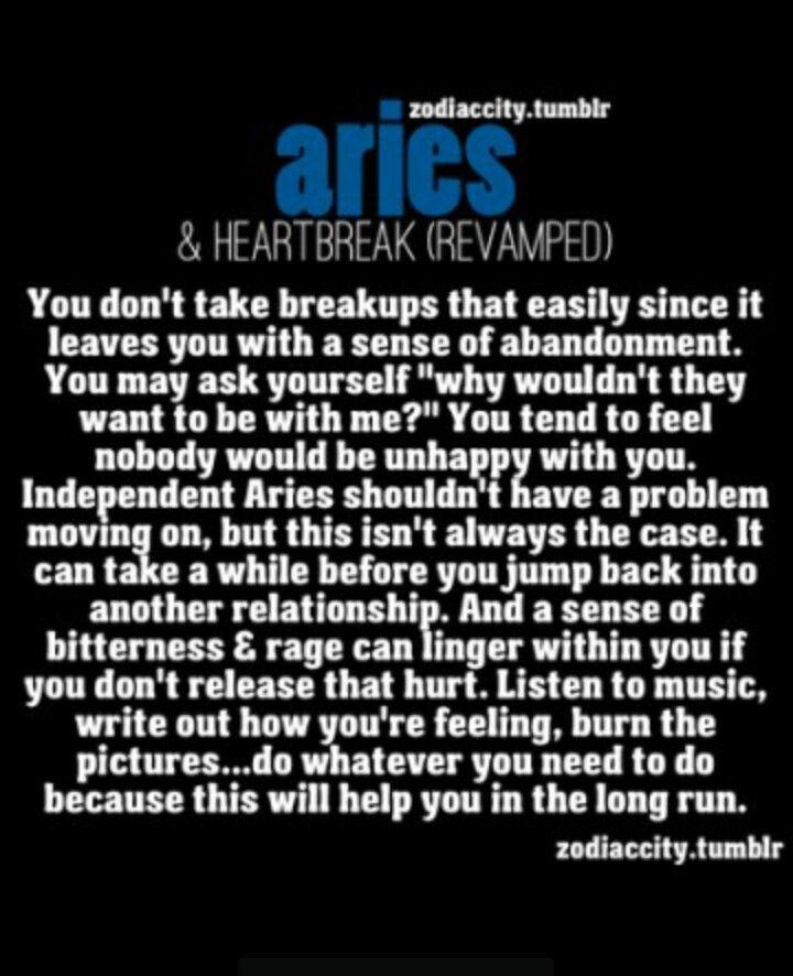 Aries & Breakups | Horoscope Fun | Aries astrology, Aries