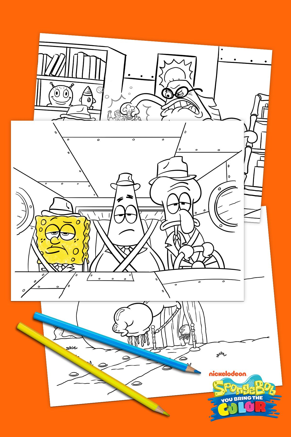 spongebob coloring pages print outs - photo#41