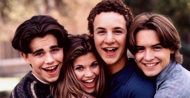 Four of the most awesome people to ever grace the television screen. <3 Shawn, Topanga, Cory, and Eric and I  loveeeee Boy Meets World