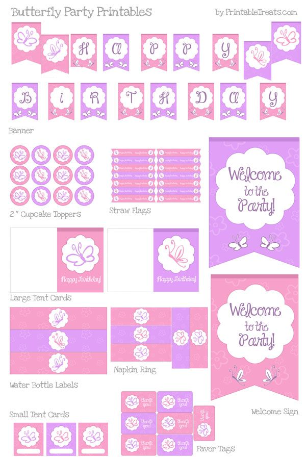 It is a picture of Selective Printables Birthday Decorations
