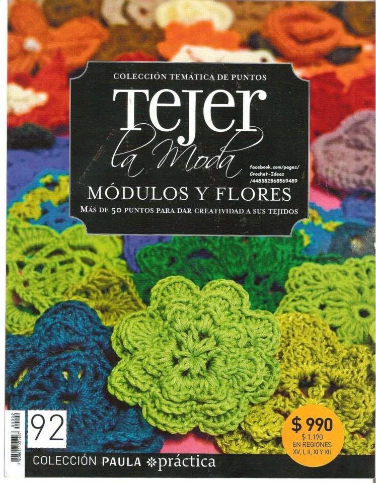 Revistas de crochet y tejidos gratis: Como hacer módulos y flores en ...