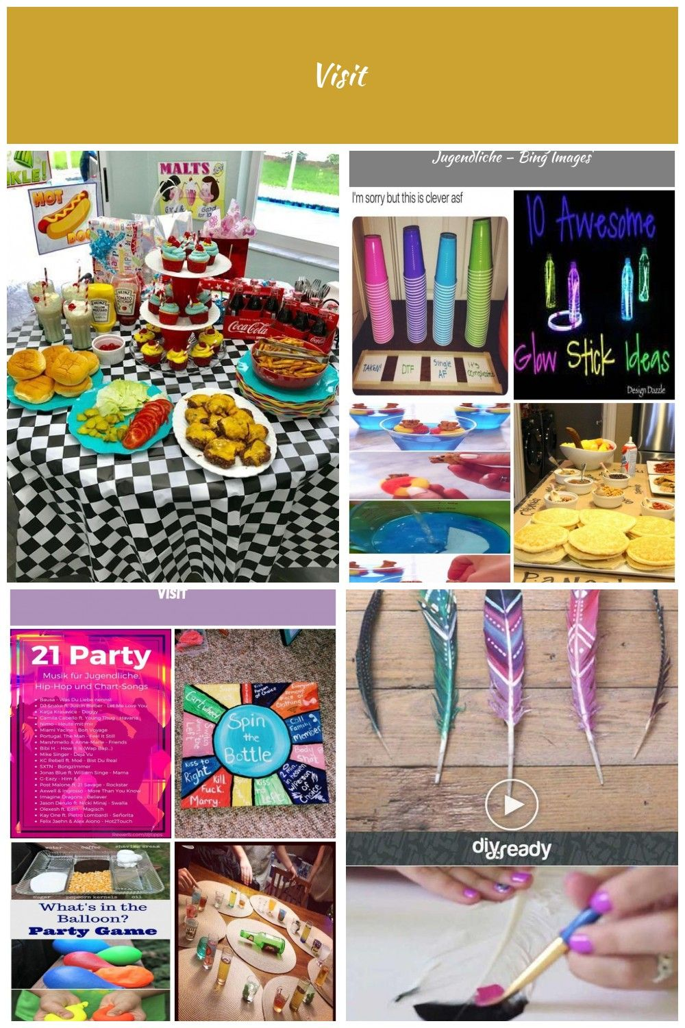 Super Birthday Party Ideas For Teens 13th Food Ideas  50s Party Theme    geschenke  Party Ideen Jugendliche