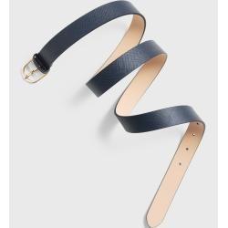 Gant Saffiano cinturón de cuero (azul) Gant