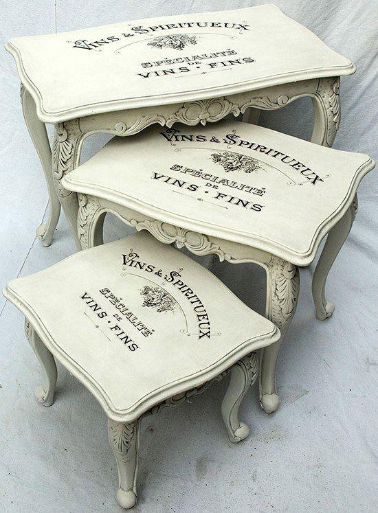 Awesome ... Mesas Para Decor Toda Em Pátina Provença Em Branca Com Aplicação Na  Tampa. | Trabalhos Em Madeira | Pinterest | Paint Furniture, Chalk Paint  And Shabby