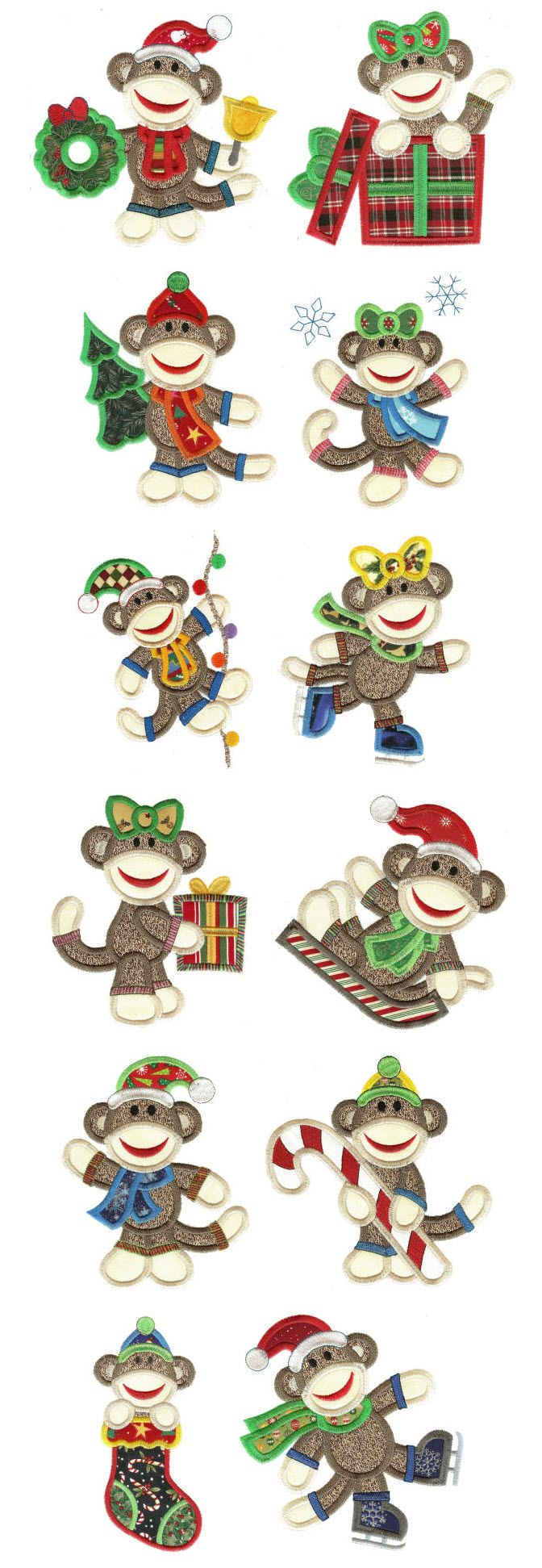 Embroidery   Free Machine Embroidery Designs   Christmas Sock ...