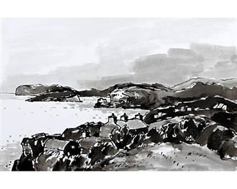 2 Works: Anglesey farm house; Puffin Island and the Great Orme By Sir Kyffin Williams