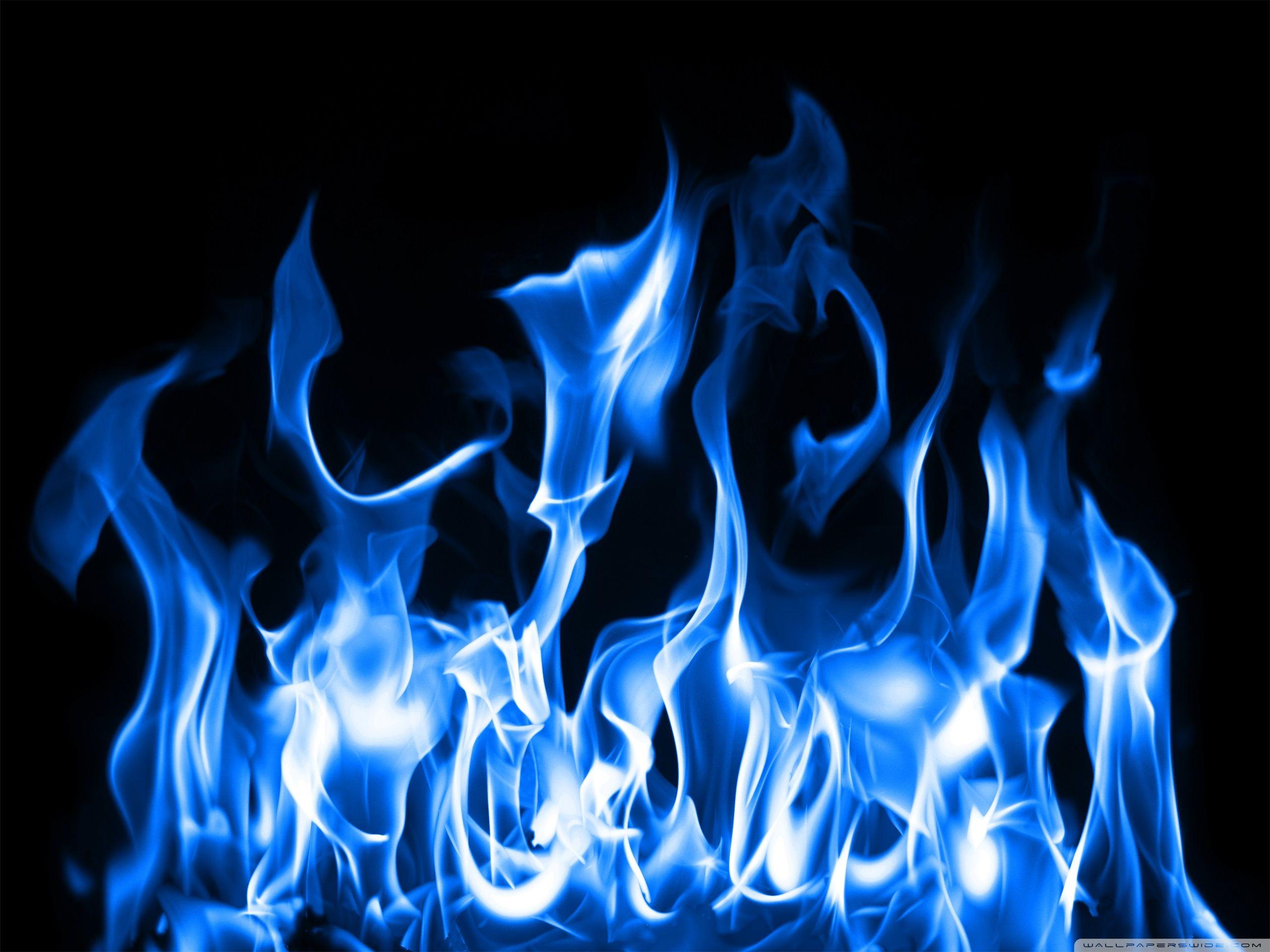 blue fire hd desktop wallpaper : high definition : mobile | images
