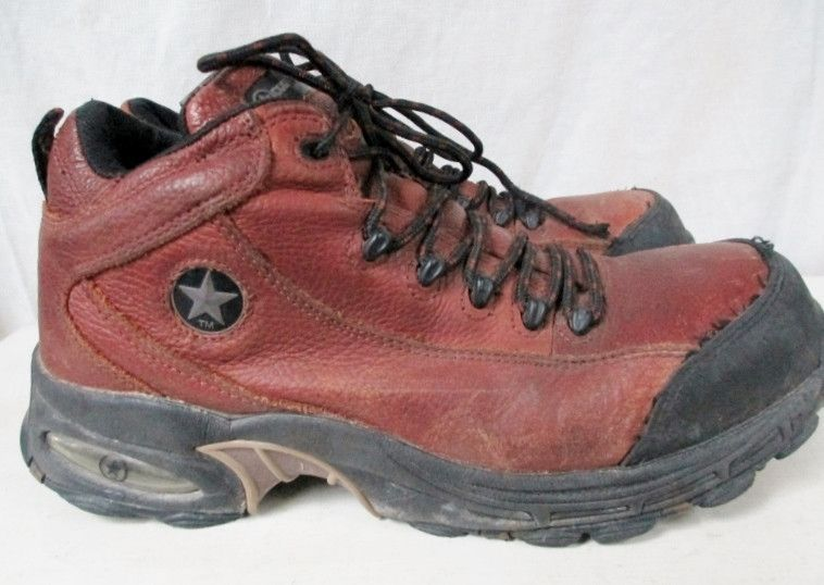 Mens CONVERSE C4444 Waterproof Composite Leather Toe HIKING Boots Shoes BROWN 9.5