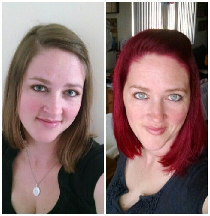 Manic Panic Rock N Roll Red On My Natural Unbleached Hair I Did