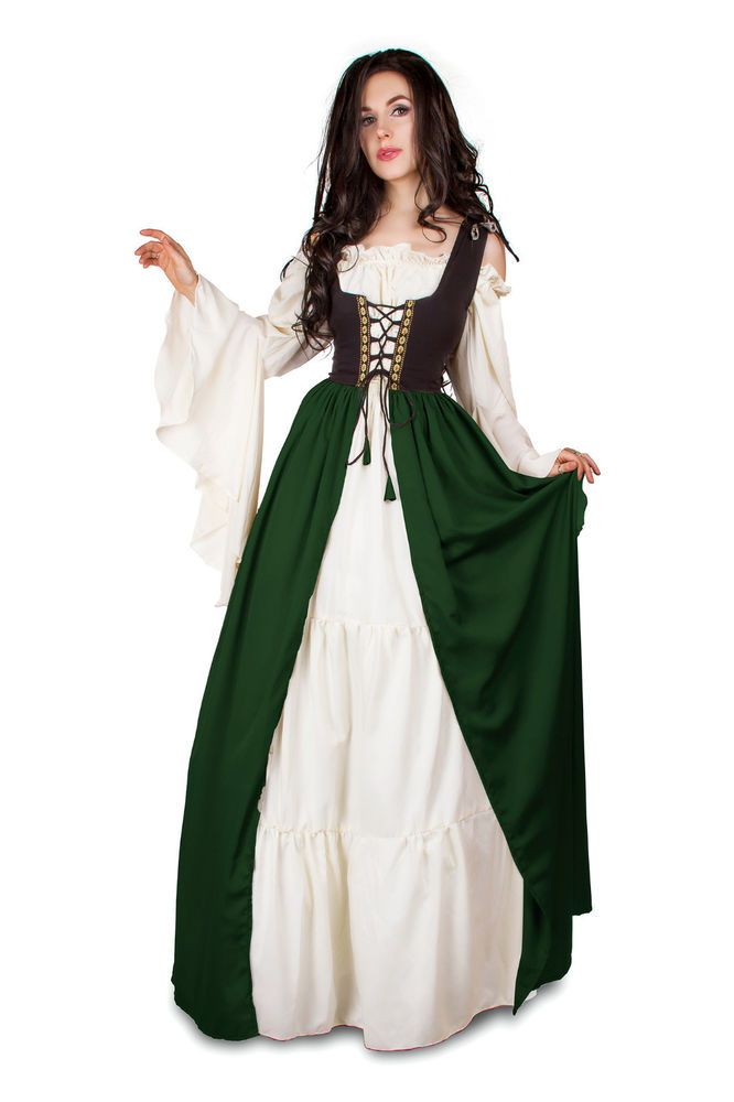 IDD Renaissance Medieval Irish Costume 2Toned Black Fitted ...