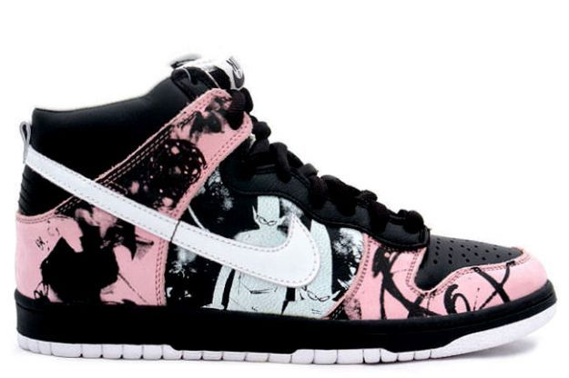 watch 8db72 8af2a Nike Dunk High Pro SB - Unkle Dunkle Futura (black  white  pink)