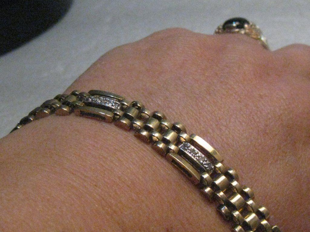 Vintage menus kt woven diamond bracelet