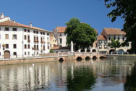 City of Treviso, Italy is noted for it's scenic canals