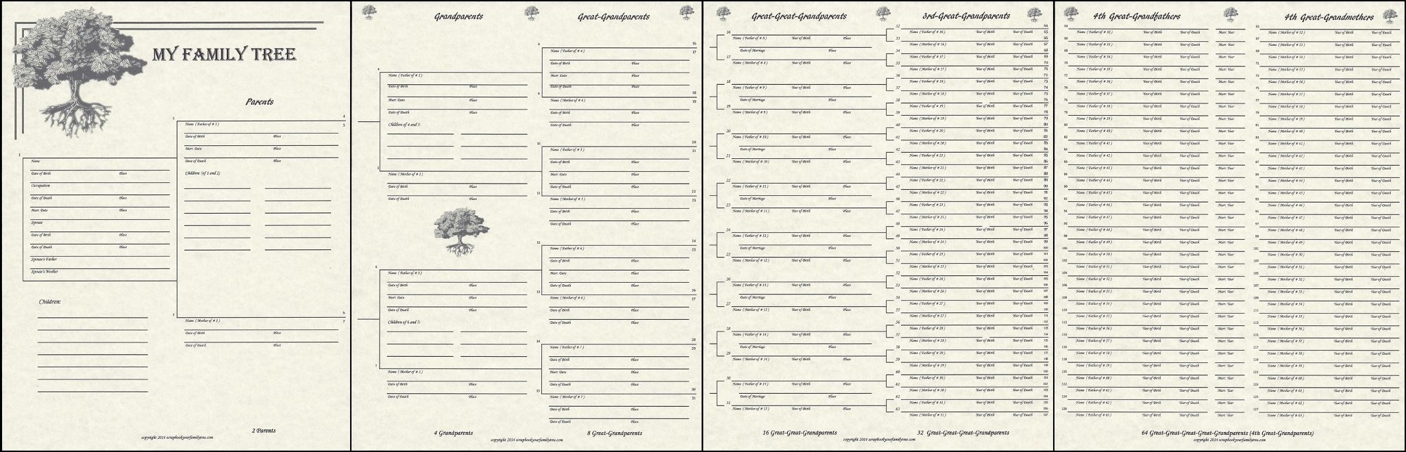our roots 7 generation pedigree chart ancestry pinterest