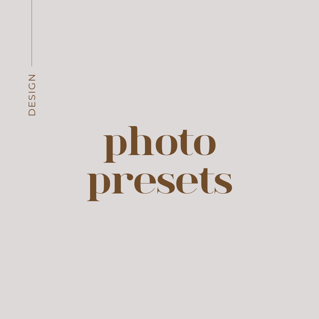 create a cohesive look to your brand with photo presets