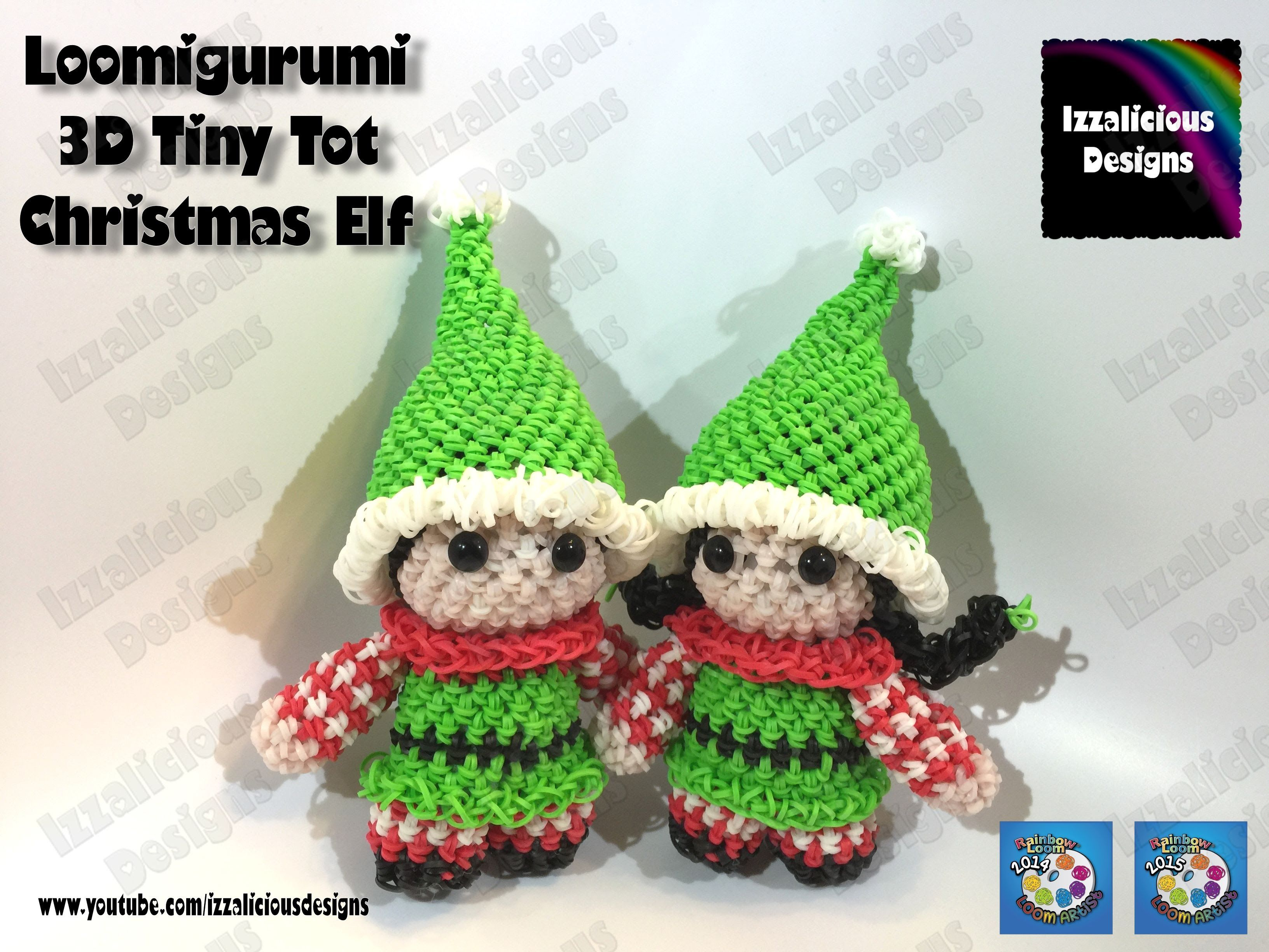 Amigurumi Loom Patterns : Loomigurumi elf tiny tot christmas figure amigurumi w rainbow