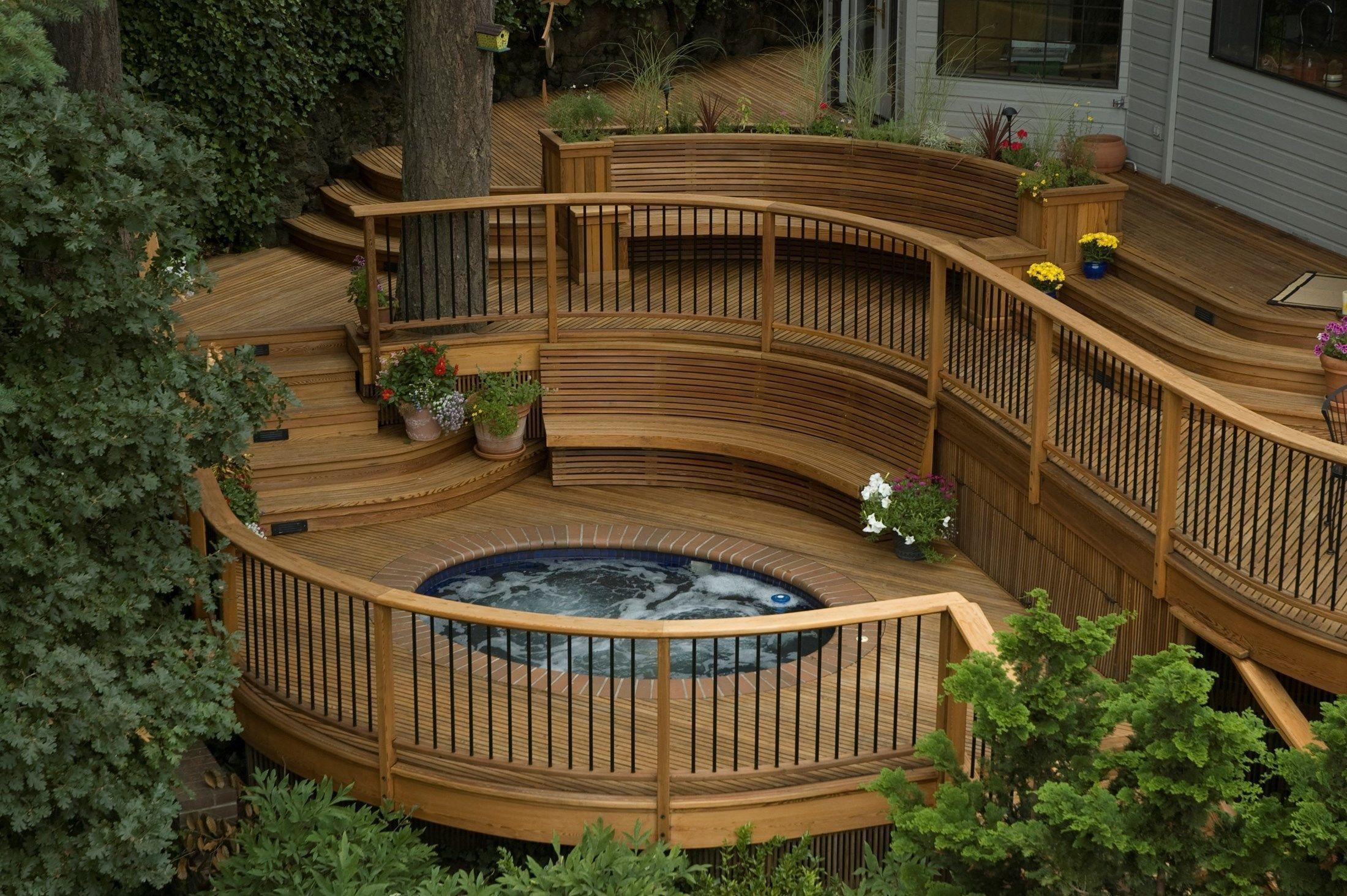 23 Gorgeous Small Wooden Deck Ideas For Small Backyards With Images Deck Designs Backyard Decks Backyard Building A Deck