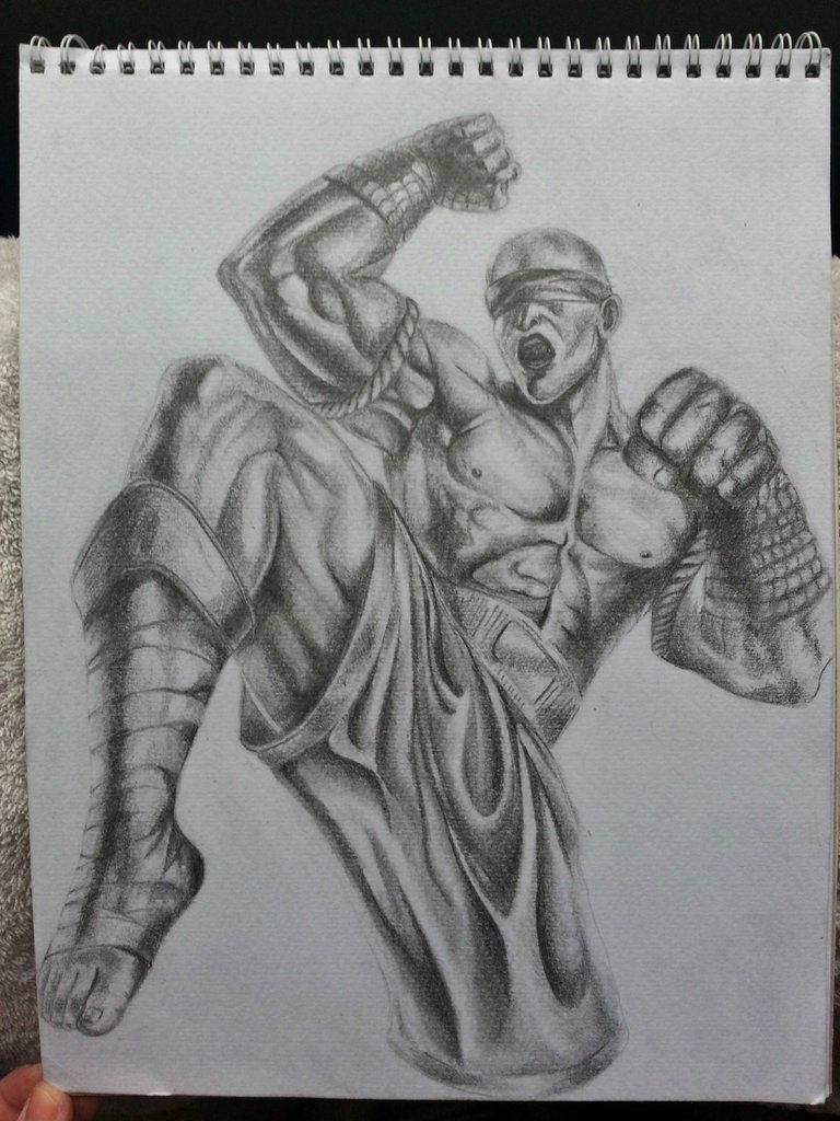 Pencil drawing gift for my husband. This is his favourite League of Legends Champion! ...I think he liked it.  http://www.reddit.com/r/leagueoflegends/comments/1ozv9d/picture_my_wife_managed_to_change_my_mood_after