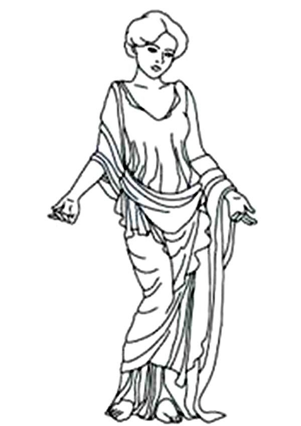 Aphrodite Amazing Goddess Of Love Coloring Page