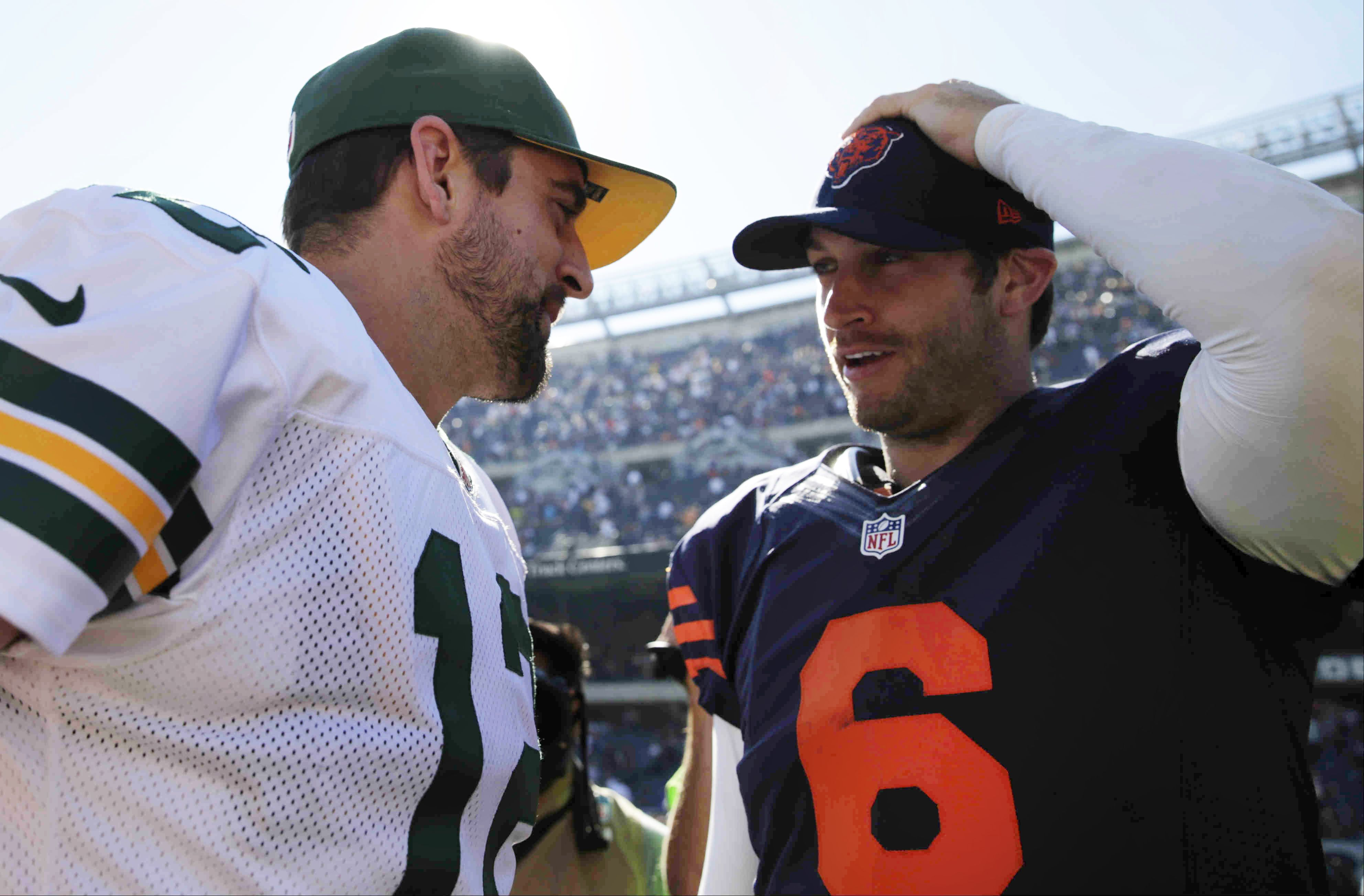 Aaron Rodgers Is Glad The Packers Don T Leak Like The Bears Profootballtalk Aaron Rodgers Packers Nfc Championship Game
