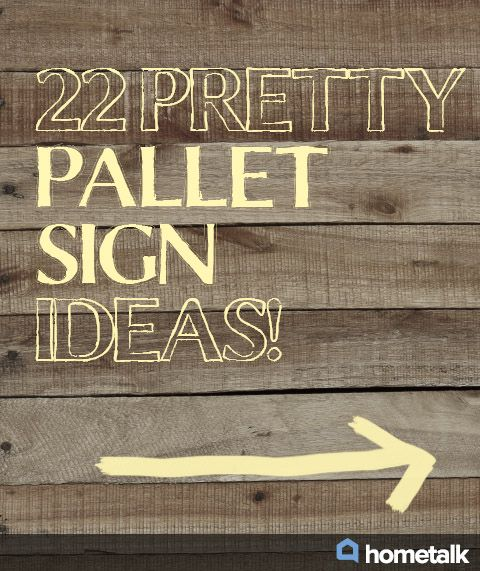 how to make a sign out of pallets
