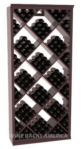 Five Star Series 200 Bottle Diamond Wine Cellar Storage Rack In Redwood With Burgundy Stain
