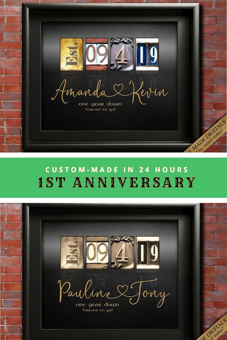 1st Anniversary Gift Ideas First Wedding Anniversary Gifts Paper Anniversary Gift For Husband Gift For Wife Gift For Couple Custom Digital In 2020 Bronze Anniversary Gifts 1 Year Anniversary Gifts Paper Gifts Anniversary