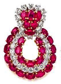 Harry Winston Ruby & Diamond Earring
