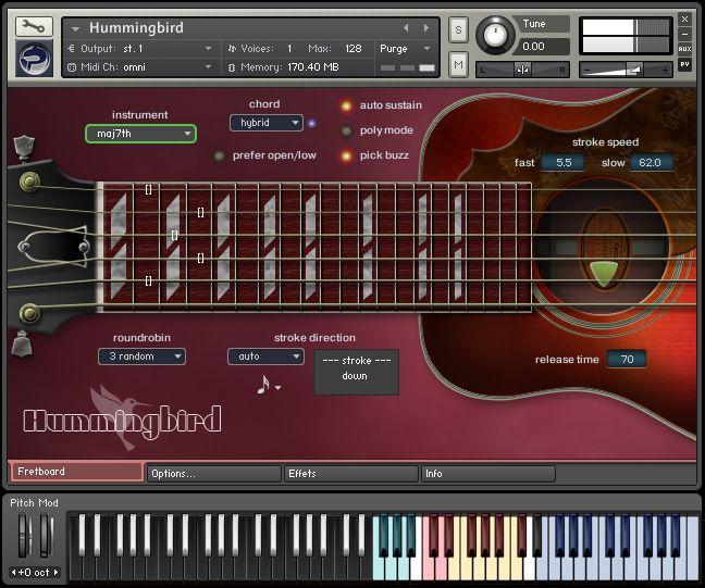 Prominy Hummingbird Virtual Acoustic Guitar Music Education Guitar Ipad Music