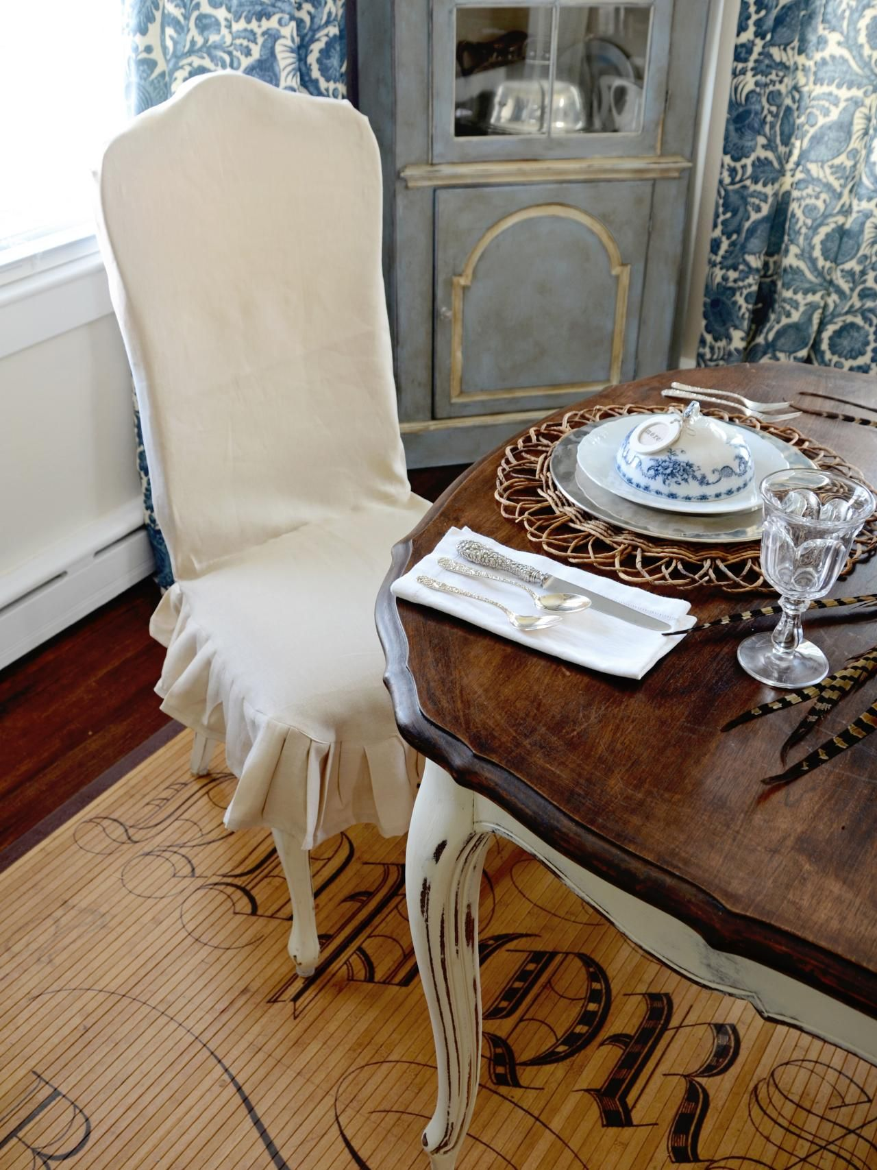 How To Make A Custom Dining Chair Slipcover Part 12