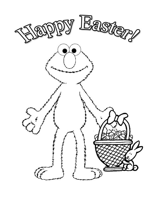 Elmo Easter coloring page Something fun and cute decor for the