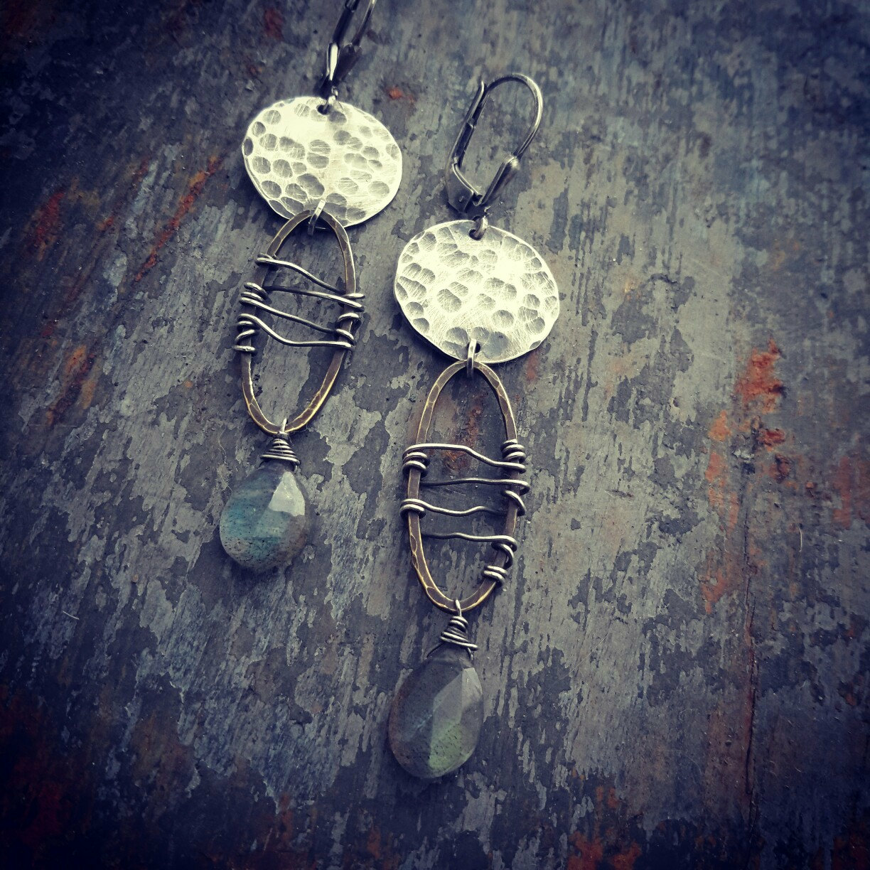 Uniquely Textural Labradorite Earrings From Dna Jewelry