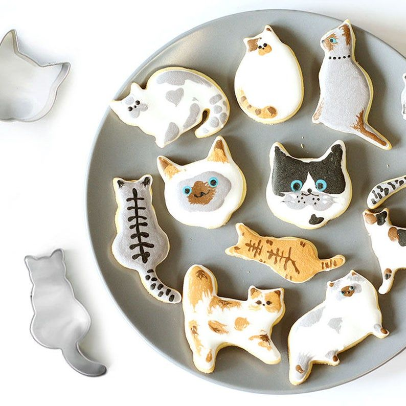 Cat Kitty Kitten Cookie Pastry Biscuit Cutter Icing Fondant Baking Bake Kitchen