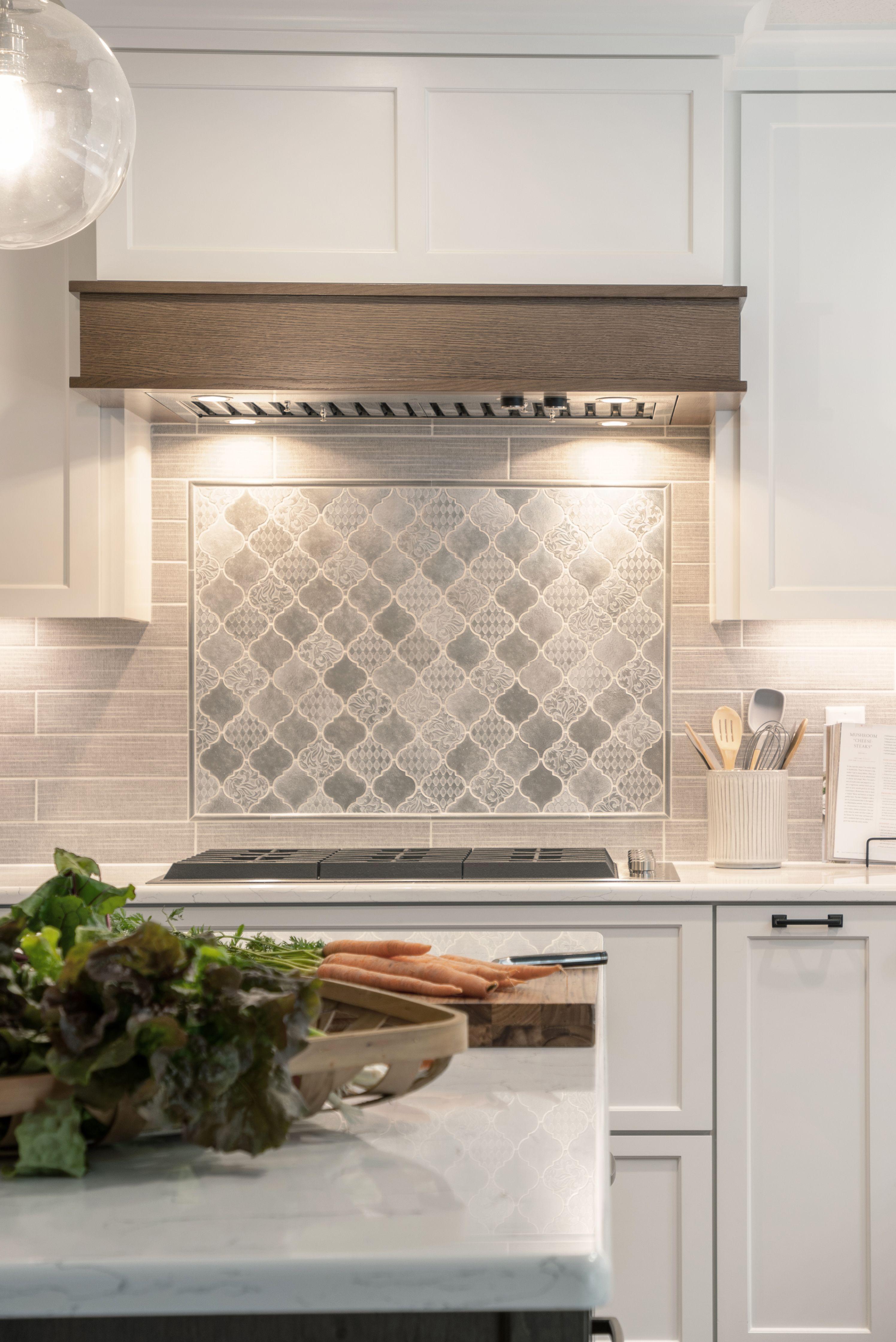 White Kitchen Cabinets With Gray Backsplash Tile Gray Kitchen Backsplash Kitchen Backsplash Designs Kitchen Cabinets Grey And White Decorative backsplash for kitchen