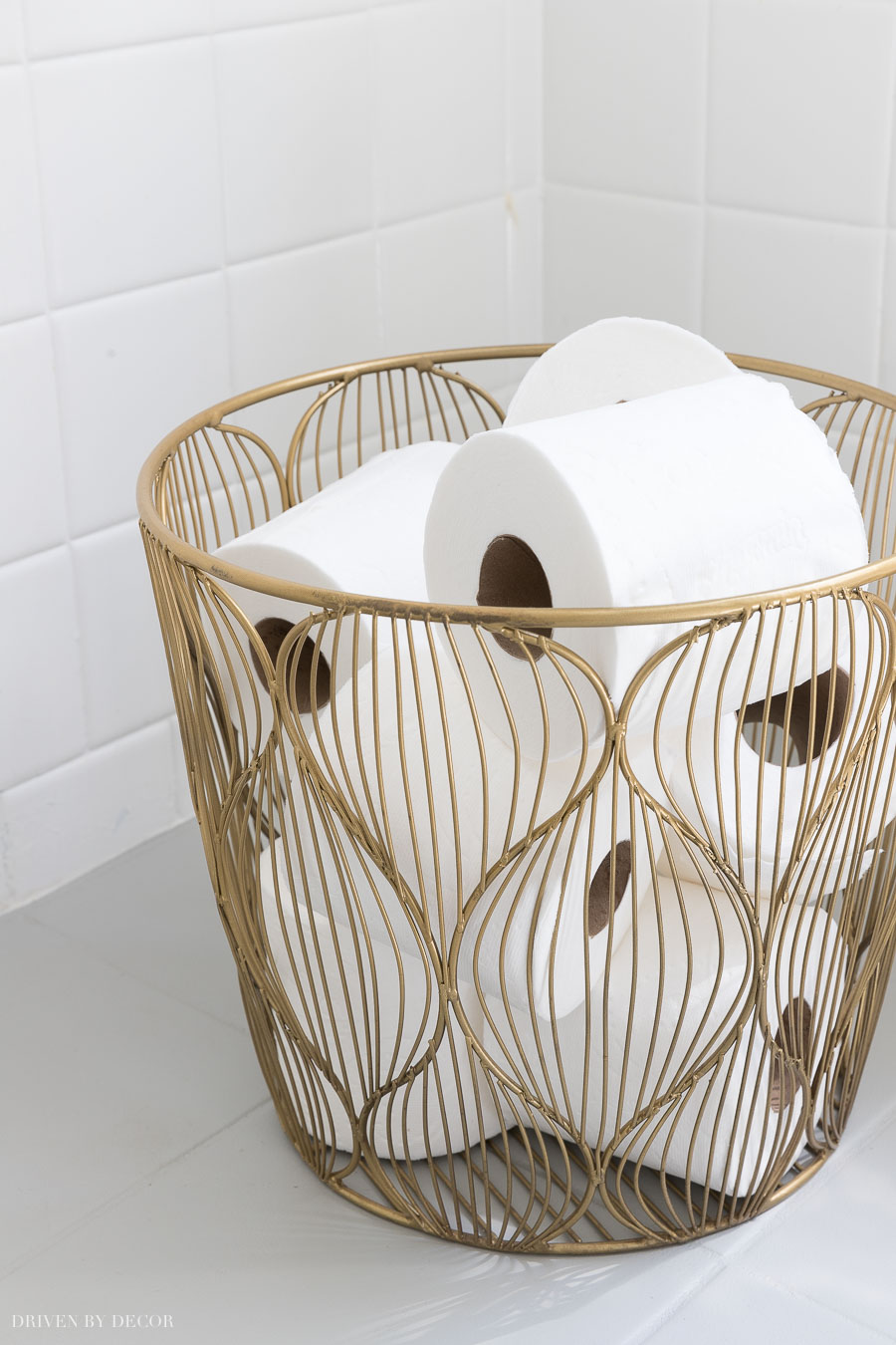 This Small Gold Wire Basket Is Perfect For Holding Extra Rolls Of Toilet Paper In The Bathroom 299841287691190657 Gold Bathroom Wire Baskets Gold Wire Basket