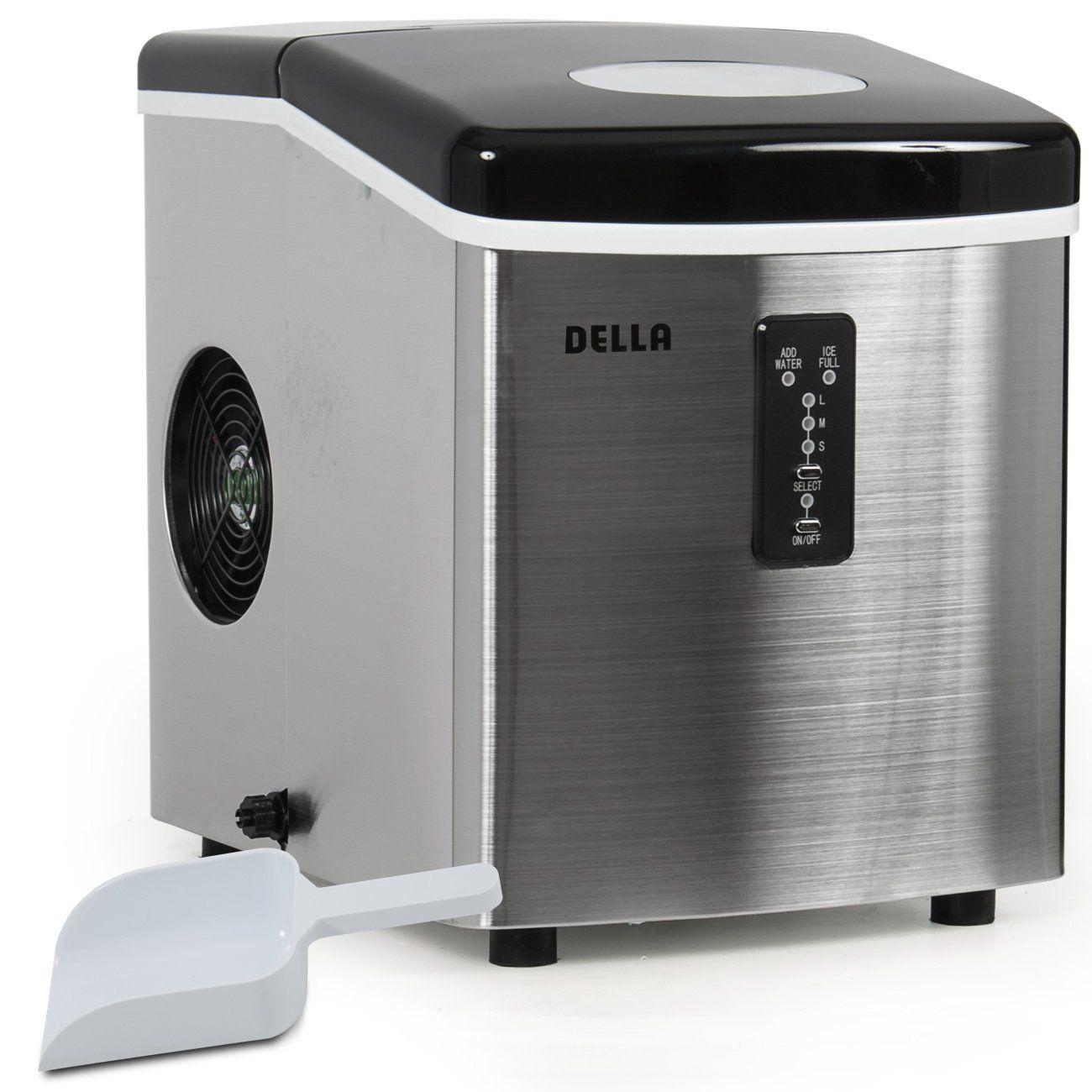 Della Stainless Steel Ice Maker Della Stainless Steel Ice Maker Portable Ice Maker Ice Maker Ice Maker Machine