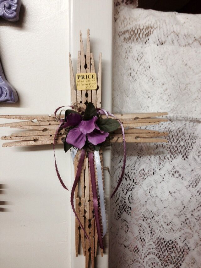 Clothespin cross | crosses | Clothespin cross, Clothes pin ...