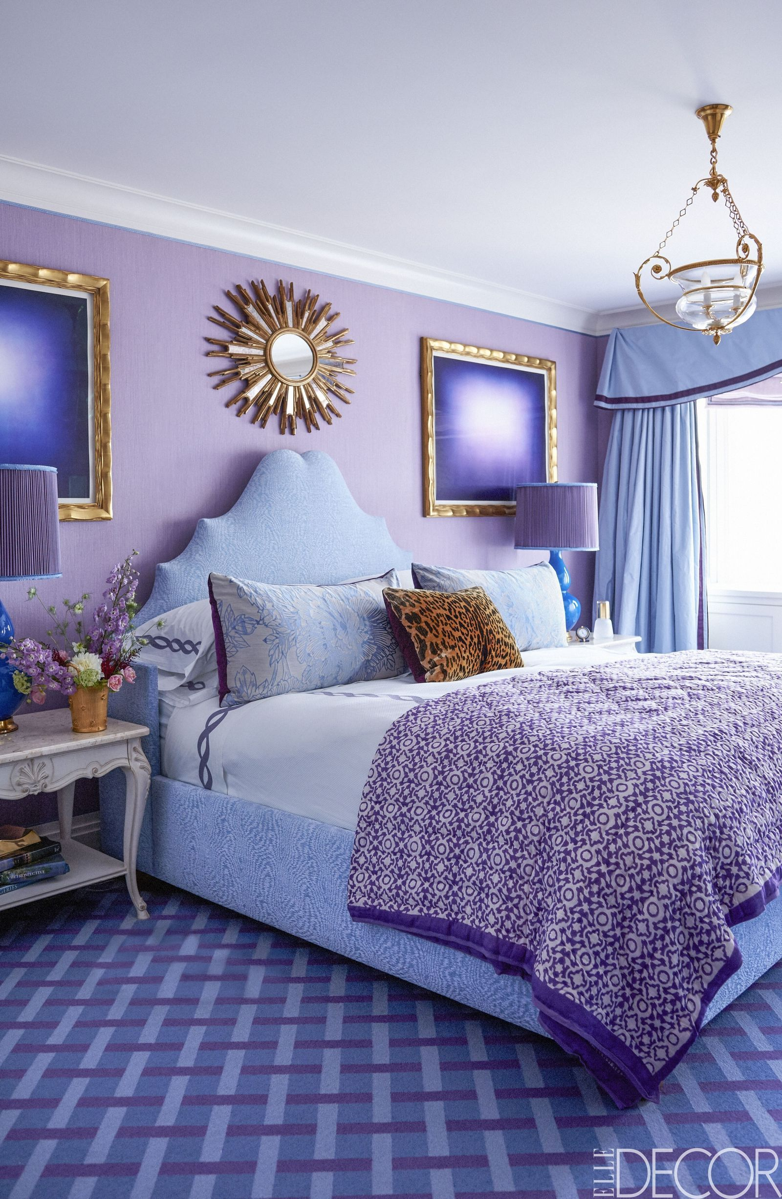 lovely Purple And Blue Bedrooms Part - 2: 15 Rooms That Will Convince You Of The Power Of Purple - ELLEDecor.com