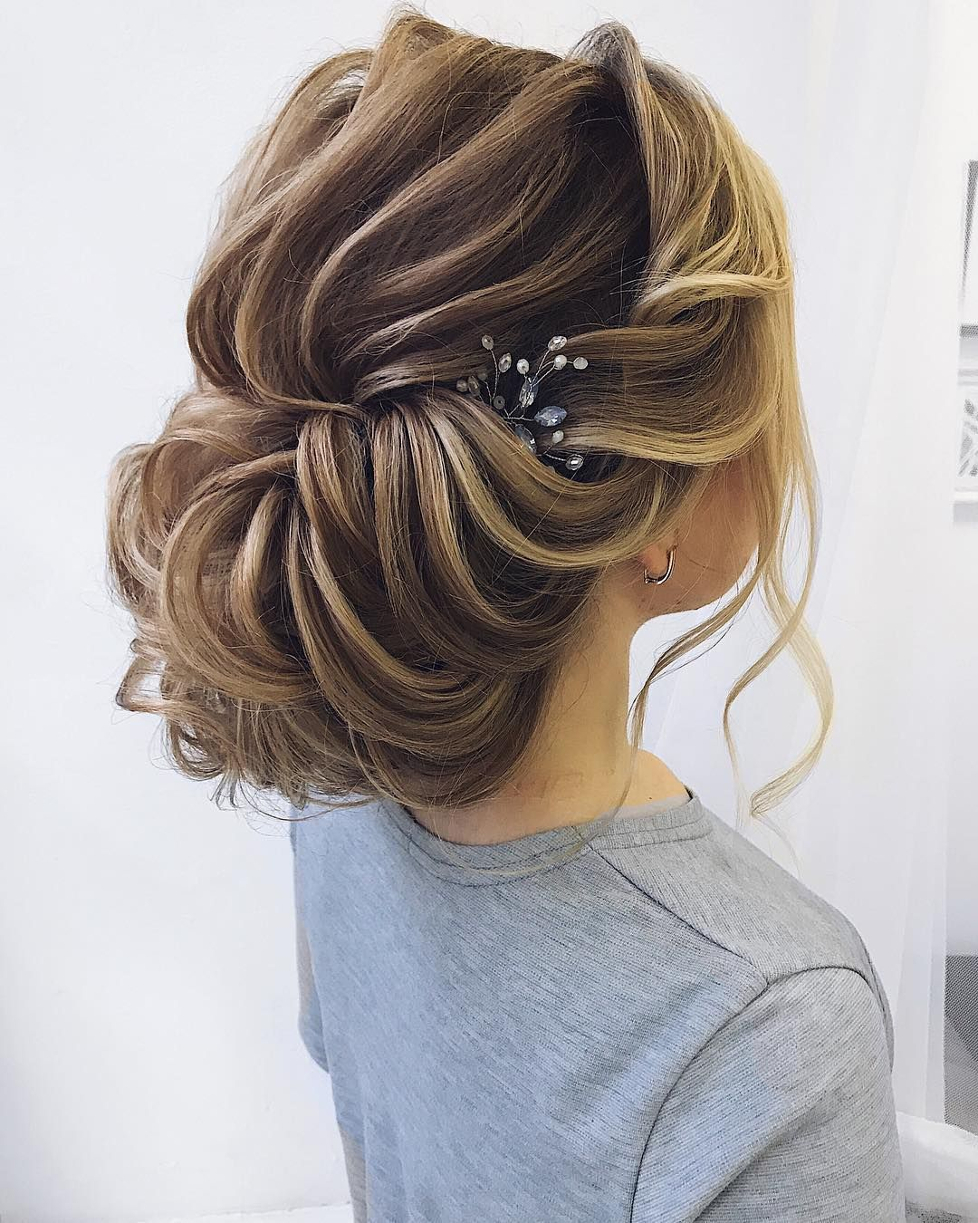 92 drop dead gorgeous wedding hairstyles for every bride to be textured wedding updo hairstyle messy updo wedding hairstyles chignon messy updo hairstyles junglespirit Choice Image