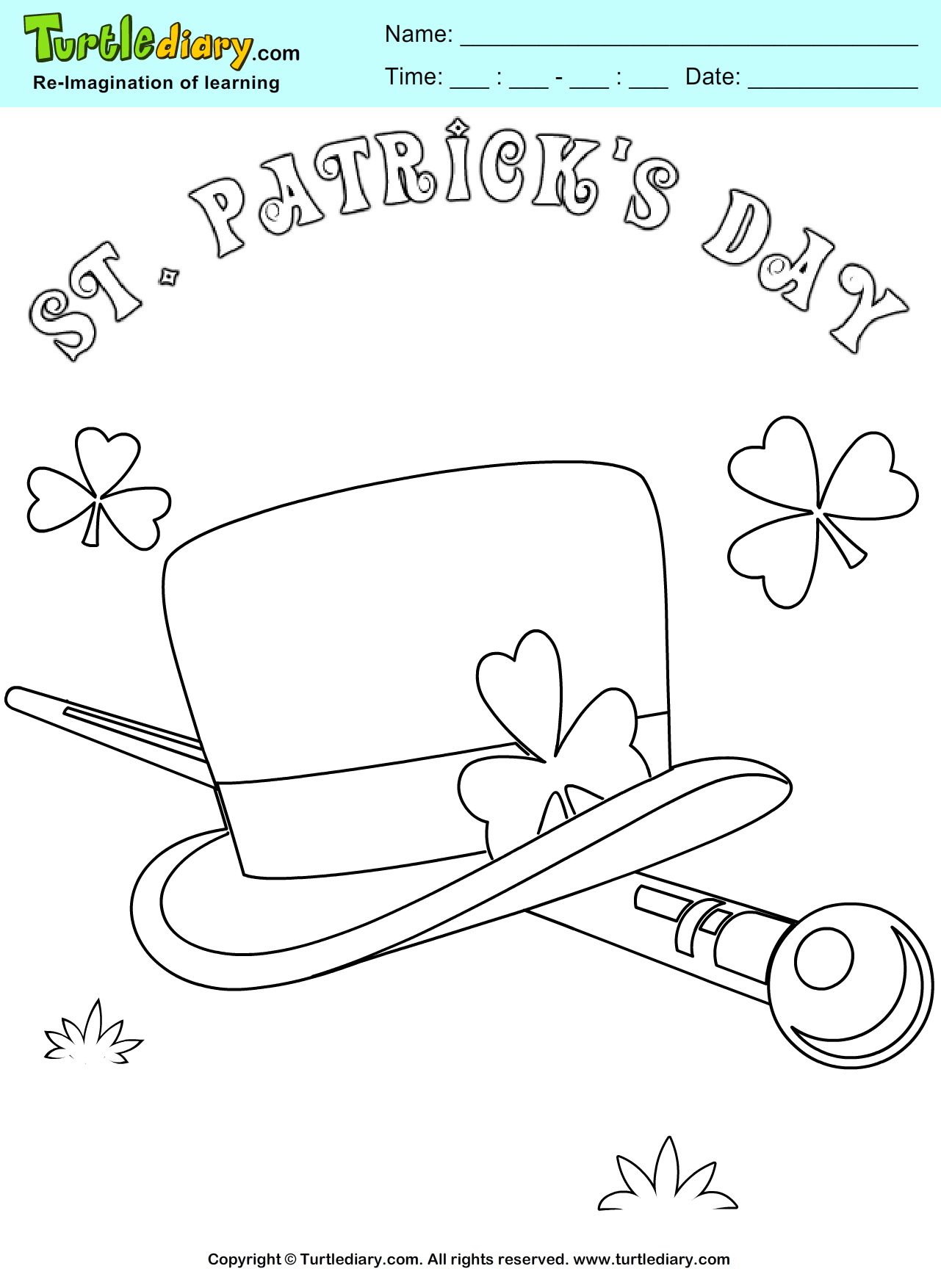St Patrick Day Coloring Page Coloring Sheet Coloring Pages Coloring Sheets Coloring Sheets For Kids