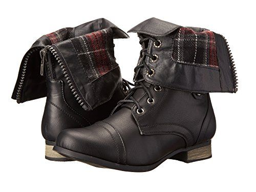 Charles Albert Women's Cablee Combat Boot with Plaid Fold... https://www.amazon.com/dp/B017HQRXB8/ref=cm_sw_r_pi_dp_mH.ExbXVMFPBY