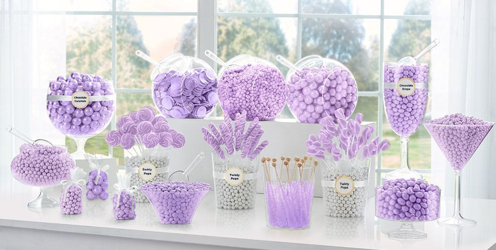Lavender Candy Buffet Supplies Lavender Candy Containers Party City Wedding Candy Table Lavender Candy Lavender Baby Showers