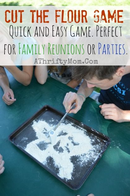 Cut The Flour Game Family Reunion Ideas Party Games For A
